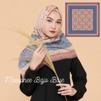 Maolanee Bajo Blue Ultrafine Voal Segi Empat Lasercut Premium Hijab