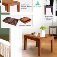 Olymplast OST-R Meja Plastik Sofa Table Rotan Rattan Anyaman Ruang