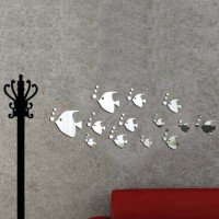 Dekorasi Rumah: Stiker Dinding Decal Model Mural Desain Sea Fish