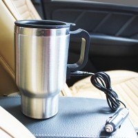 500mL Supplies Heating Cup Travel Car Electric Kettle Coffee Water