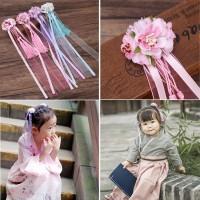 (PROMO) Baby Girls Chinese Style Kids Hair Clip Flower Tassels