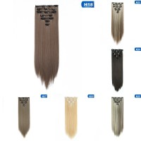 bhy Real Long 100% Natural Extensions Clip in Hair Extention Full