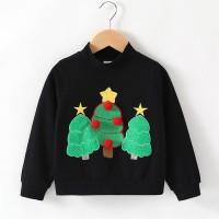 (PROMO) Sweater Kaos Motif Bordir Pohon Natal untuk Bayi Laki-laki /