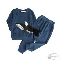 (PROMO) Setelan Sweater Kaos Casual Bayi Laki-laki / Perempuan