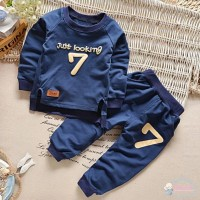 (PROMO) Set Sweater + Celana Panjang Bayi Laki-Laki Motif Print