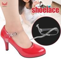 (PROMO) 1 Pasang Tali Sepatu High Heels Transparan Untuk Wanita
