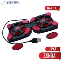 kipas laptop lipat model kepiting cooling pad type zonda 10-14inc