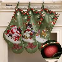 (PROMO) Natal P P Kaos Kaki Gantung Motif Santa Claus / Snowman /
