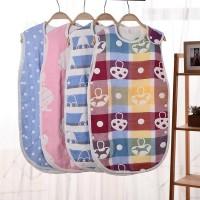 (PROMO) Baby 6 layers gauze sleeping bag baby anti-sleek sleeping