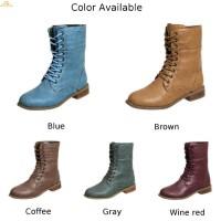 Sepatu Ankle Boots Wanita Gaya Retro Vintage Anti Slip untuk Pesta /