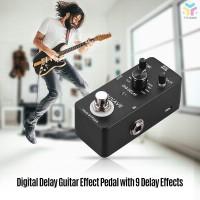 T & T Pedal Efek Gitar Delay Digital Delay dengan 9 Efek Metal
