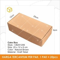 Dus Kue Cake Box Kotak Packaging Kemasan Brownies - CB251206