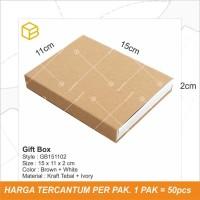 Box Dus Dompet Kemasan Polos Gift Souvenir - GB151102