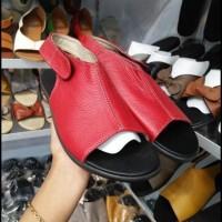 BERKUALITAS sandal kulit wanita asli garut termurah CUCI GUDANG