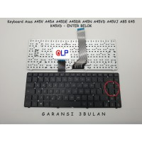 Keyboard Asus A45 A45V A45A Enter Bengkok - Black