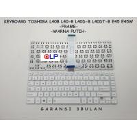 Keyboard Toshiba L40B L40-B L40D-B L40DT-B E45 E45W FRAME - White