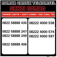 Nomer cantik telkomsel 4g lte SAK TI combo 15gb cuma 75k