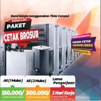 Cetak Brosur A5 (1 Sisi ) 2 rim / 1000 lbr | Art Paper 120 gr Murah !