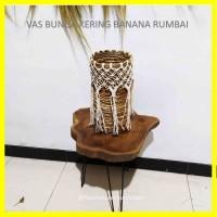 Vas Bunga Kering Anyaman Banana Macrame