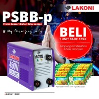LAKONI MESIN LAS INVERTER BASIC 123 IX 450 WATT
