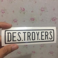 CUTTING STICKER FRAME SEPEDA ELEMENT TROY DESTROYERS