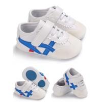 Sepatu Bayi Laki Laki Prewalker Bayi Onit White Blue