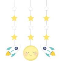 Gantungan Tema To The Moon And Back - Perlengkapan Pesta Ulang Tahun