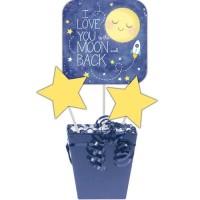 Centerpiece Stick To The Moon And Back-Perlengkapan pesta ulang tahun