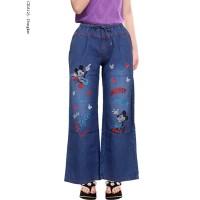 Celana Kulot Jeans Anak Usia 6-11Thn Motif Polos Hias Bordir