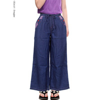 Celana Kulot Anak Tanggung 9-13 Tahun Bahan Soft Jeans Adem - Dongker