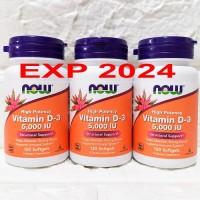 Now Foods Food Vitamin Vit D-3 D 3 D3 5000IU 5000 IU 5,000iu 120