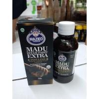 Madu hitam pahit super mazied 280gr extra propolis daun insuline