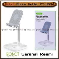 Phone Holder HP Tablet Robot RT-US04 Meja Tempat Universal Alumunium
