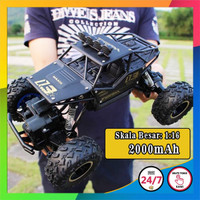 RC Rock Crawler 6141 Skala 1:16 Off Road 2.4GHz 4WD 3 Warna Pilihan - Hitam