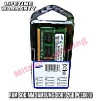 RAM SAMSUNG SODIMM DDR3 2GB PC 10600 BERGARANSI
