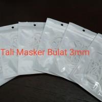 Tali Masker 3mm Tali Karet Bulat Untuk Cadangan - Modifikasi Masker