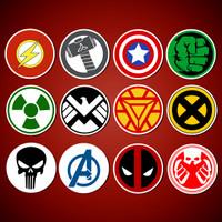 Stiker/Sticker Super Hero untuk Laptop, Mobil, Koper, dll
