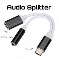 Spliter type C audio jack 3.5mm charging port
