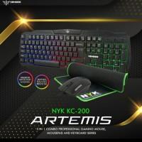 Keyboard Mouse NYK KC-200 Nemesis Artemis Gaming Set