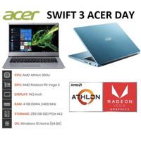 """Laptop Acer Swift 3 SF314-41 AMD Athlon 300U/4GB/256GB/Finger/14""""/W10"""