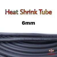 Heat Shrink Tube 6mm Selongsong Bakar Selang Bakar 1meter - Hitam