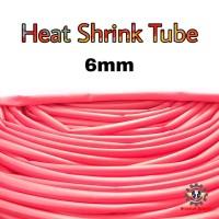 Selongsong Bakar Selang Bakar Heat Shrink Tube 6mm 1meter - Merah