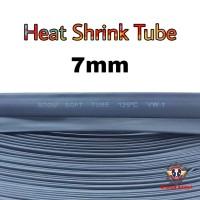 Heat Shrink Tube 7mm Selongsong Bakar Selang Bakar 1meter - Hitam