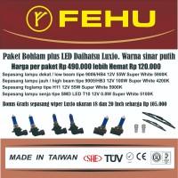 Paket bohlam Fehu plus LED untuk Daihatsu Luxio. Warna sinar putih