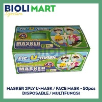 MASKER 3PLY EARLOOP FIT-U-MASK | DISPOSABLE - 50pcs