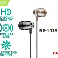 HANDSFREE ROBOT RE 101 / HEADSET ROBOT RE101 / EARPHONE ROBOT ORIGINAL
