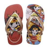 Sandal Havaianas N Baby Herois Cf 7861-Ruby Red/Rose Gold Metallic - 17-18