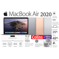 "Apple MacBook Air 2020 I3-10th Gen 8GB SSD 256GB 13.3"" Retina Touch ID"