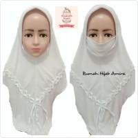 Jilbab Masker Hijab Anak Niqob Cadar Khusus Putih