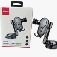 VIVAN CHS06 PHONE GRAVITY CAR HOLDER MOBIL SUCTION CUP AUTO LOCK HP